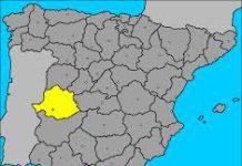 MAPA ESPAÑA-CACERES